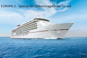 Hapag-Lloyd Kreuzfahrten, MS EUROPA 2, Schiff in Fahrt (ship on high seas)